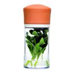 Pote plástico para guardar/conservar ervas frescas