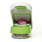 Picador de Cebola, Legumes e Alho Progressive em Plástico / Aço Inox - Branco / Verde