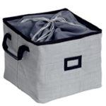 Caixa organizadora dobrável c/ amarração - 35x35