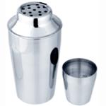 Coqueteleira inox c/ tampa e peneirador - 400 ml