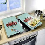 Kit c/ 2 tábuas vitrocerâmica p/ cozinha - Sweet
