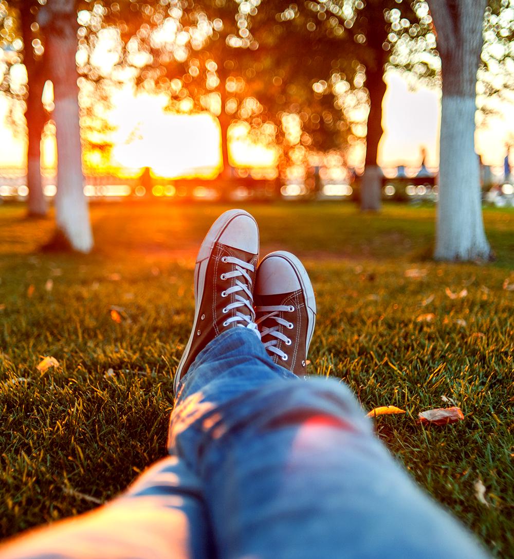 piquenique em tardes de sol