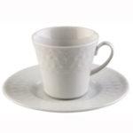 Conjunto xícara e pires para café, 100 ml - Inci