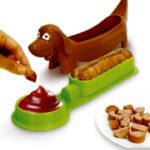 Fatiador de salsicha c/ suporte p/ temperos - Dog