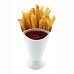Suporte p/ servir batata frita e catchup