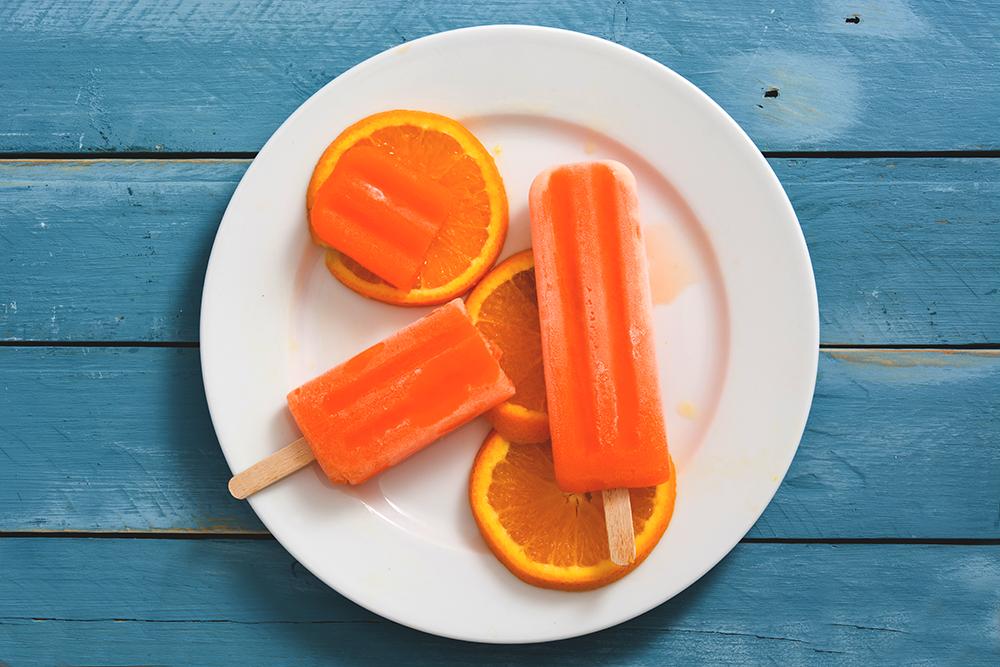 picole de laranja