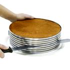 Conj. anel de metal e faca p/ bolo / torta