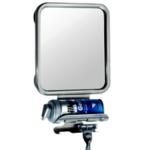Espelho com porta barbeador espuma - 27 cm