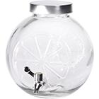 Suqueira em Vidro / Metal - 5 L - Transparente / Cinza