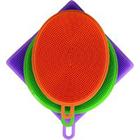 Conjunto de 3 Esponjas para Lavar Louças em Silicone - Colorida