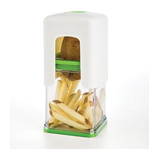 Cortador de Batatas / Vegetais Progressive em Plástico / Aço Inox - Linha Tower - Branca / Verde