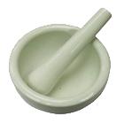 Pilão de cerâmica para temperos