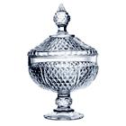 Bomboniere de vidro c/ tampa - Diamond