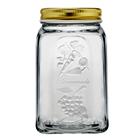 Pote de vidro c/ tampa de metal - 1 L