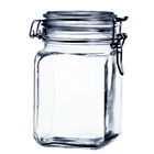 Pote de vidro com tampa e trava 1 L - Gasket