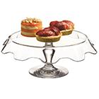 Prato para Bolo com pé Pasabahçe em Vidro - Transparente
