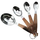 Conjunto de 4 colheres medidoras de aço inox