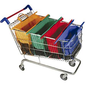 Conjunto de 4 sacolas reutilizáveis para compras
