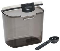 Pote para Café com Colher Progressive em Plástico - 1400 ml - Preto / Branco